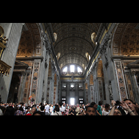 Roma (Rom), Basilica S. Pietro (Petersdom), Innenraum im Richtung Ostwand