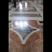 Roma (Rom), Basilica S. Pietro (Petersdom), Marmorfußboden - Detail