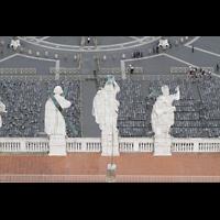 Roma (Rom), Basilica S. Pietro (Petersdom), Blick von der Kuppel auf die Figuren auf der Fassade