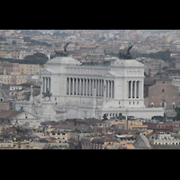 Roma (Rom), Basilica S. Pietro (Petersdom), Blick von der Kuppel auf das Monument Vittorio Emanuele II