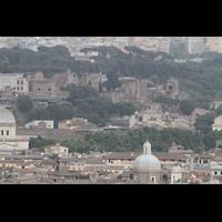 Roma (Rom), Basilica S. Pietro (Petersdom), Blick von der Kuppel zum Forum Romanum und Palatin