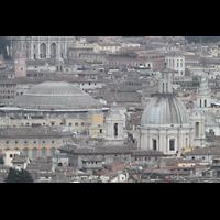 Roma (Rom), Basilica S. Pietro (Petersdom), Blick von der Kuppel auf das Pantheon und die Kirche S. Agnese in Agone