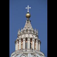 Roma (Rom), Basilica S. Pietro (Petersdom), Spitze der Kuppel des Petersdoms