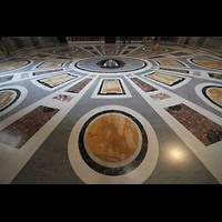 Roma (Rom), Basilica S. Pietro (Petersdom), Marmorfußboden im linken Seitenschiff