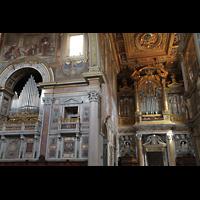 Roma (Rom), Basilica San Giovanni in Laterano (Linke Chororgel), Rechte Chororgel und Blasi-Orgel