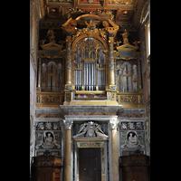 Roma (Rom), Basilica San Giovanni in Laterano (Linke Chororgel), Prospekt der Blasi-Orgel im Transept