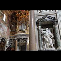 Roma (Rom), Basilica San Giovanni in Laterano (Linke Chororgel), Paulus-Statue und Blasi-Orgel