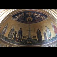 Roma (Rom), Basilica San Giovanni in Laterano (Linke Chororgel), Apsis mit Mosaiken im Chorraum