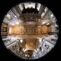 Roma (Rom), Basilica San Giovanni in Laterano (Linke Chororgel), Innenraum Gesamtansicht