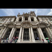 Roma (Rom), Basilica S. Maria Maggiore, Fassade perspektivisch