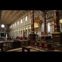 Roma (Rom), Basilica S. Maria Maggiore, Innenraum in Richtung Hauptportal