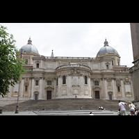 Roma (Rom), Basilica S. Maria Maggiore, Außenansicht auf den Chorraum und die beiden Seitenkapellen