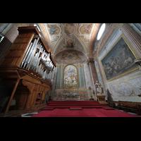 Roma (Rom), Basilica S. Maria degli Angeli e dei Martiri, Seitenschiff mit Orgel