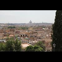 Roma (Rom), Basilica S. Pietro (Petersdom), Blick vom Hügel der Villa Medici in Richtung Petersdom