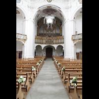 Muri, Klosterkirche (Hauptorgel), Innenraum in Richtung Hauptorgel