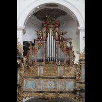 Muri, Klosterkirche (Chorpositiv), Prospekt der Evangelienorgel