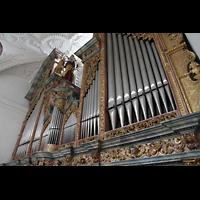 Muri, Klosterkirche (Chorpositiv), Prospekt der Hauptorgel perspektivisch