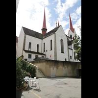 Muri, Klosterkirche (Chorpositiv), Seitenansicht