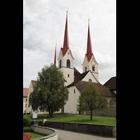 Muri, Klosterkirche (Chorpositiv), Ansicht von der Straße aus