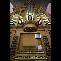 Bern, Heilig-Geist-Kirche, Spieltisch und Orgel