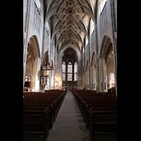 Bern, Münster St. Vinzenz (Forschungsorgel), Hautpschiff in Richtung Chor