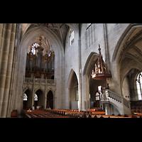 Bern, Münster St. Vinzenz (Forschungsorgel), Hauptorgel und Kanzel