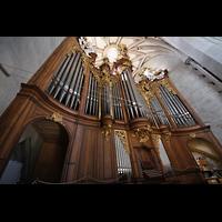 Bern, Münster St. Vinzenz (Forschungsorgel), Große Orgel von der Emporenseite aus gesehen