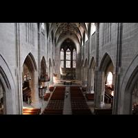 Bern, Münster St. Vinzenz (Forschungsorgel), Blick von der Empore der Hauptorgel in das Münster