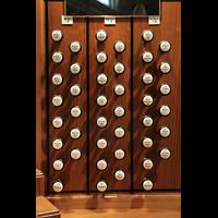 Zürich, Tonhalle, Rechte Registerstaffel am Spieltisch
