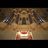 Zürich, Tonhalle, Orgel mit Spieltisch