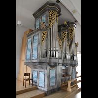 Horw (bei Luzern), St. Katharina, Orgel von der Empore seitlich gesehen