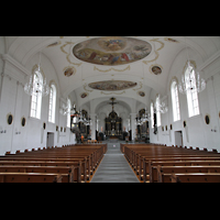 Horw (bei Luzern), St. Katharina, Innenraum in Richtung Chor