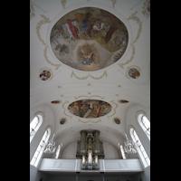Horw (bei Luzern), St. Katharina, Orgel und Deckengemälde