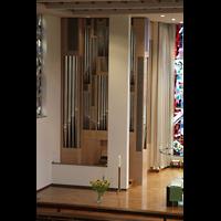 Luzern, Lukaskirche, Orgel von der oberen Empore aus gesehen