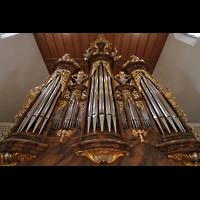 Aarau, Stadtkirche, Prospekt der Hauptorgel perspektivisch