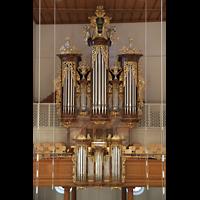 Aarau, Stadtkirche, Hauptorgel vom Lettner aus gesehen