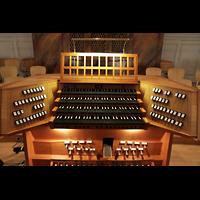 Aarau, Stadtkirche, Spieltisch der Großen Orgel