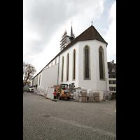 Aarau, Stadtkirche, Chor und Kirche von außen