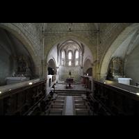 Sion (Sitten), Notre-Dame-de-Valère (Burgkirche), Blick vom Lettner in den Chorraum