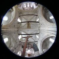Sion (Sitten), Notre-Dame-de-Valère (Burgkirche), Gesamtansicht Innenraum vom Lettner aus