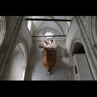 Sion (Sitten), Notre-Dame-de-Valère (Burgkirche), Orgel und Rückwand