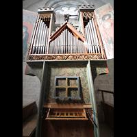 Sion (Sitten), Notre-Dame-de-Valère (Burgkirche), Orgel mit Spieltisch
