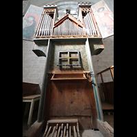 Sion (Sitten), Notre-Dame-de-Valère (Burgkirche), Orgel mit Spieltisch und Pedal