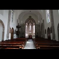 Sion (Sitten), St. Theodul, Innenraum in Richtung Chor