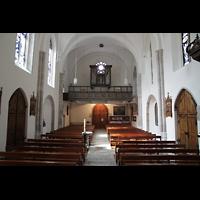 Sion (Sitten), St. Theodul, Innenraum in Richtung Orgel