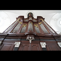 Sion (Sitten), Jesuitenkirche (Konzertsaal), Orgel perspektivisch
