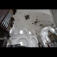 Sion (Sitten), Jesuitenkirche (Konzertsaal), Orgel und Innenraum