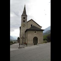 Conthey, Saint-Séverin, Außenansicht der Kirche