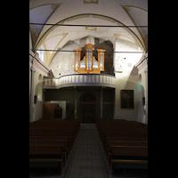 Conthey, Saint-Séverin, Orgelempore beleuchtet