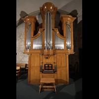 Conthey, Saint-Séverin, Orgel mit Spieltisch